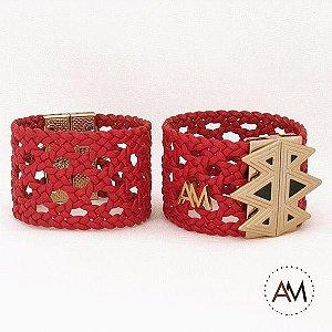 Par Bracelet Tressê Red Gold