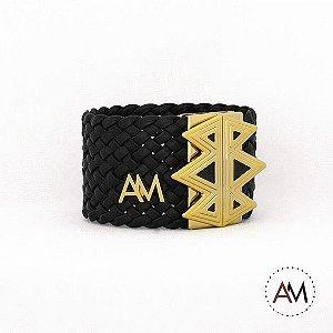 Bracelet tressê Black Pirâmide