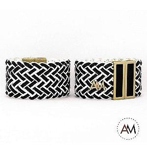 Par Bracelet Tresse Black & White