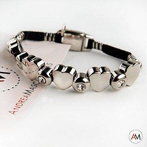 Petit Bracelet Love Black Silver