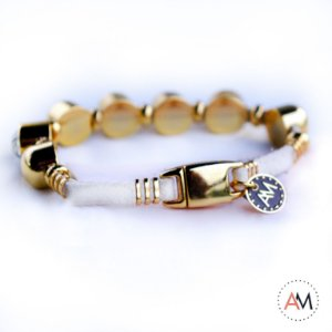 Petit Bracelet Cristais White Gold