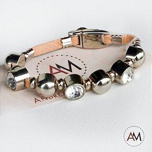 Petit Bracelet Cristais Nude Silver
