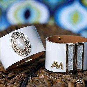 Par Bracelet Imperatriz Off White Gold