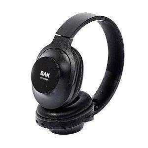 Fone de Ouvido Sem Fio BAK c/ Bluetooth/Microfone - Preto