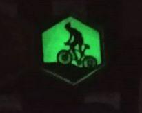 Patche Bike Ciclismo neon brilha escuro airsoft aventura bordado personalizados