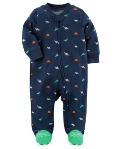 Pijama de Ziper Dinossauros - Azul - Carters