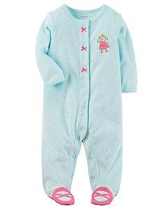 Pijama de Botões de Macaquinho - Azul - Carters