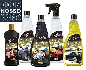 B- Kit REVENDEDOR Produtos Limpeza Automotiva CarTopCar 50 Itens