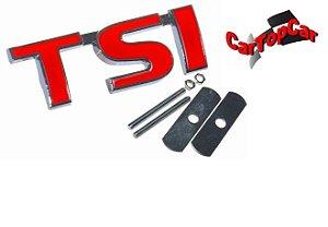 Emblema TSI Vermelho para Grade (com parafuso)