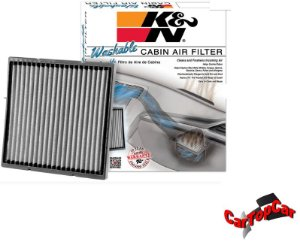 FILTRO AR CONDICIONADO K&N PARA HONDA CIVIC 2007/.. CR-V 2007/2016 E ACCORD 2003/.. REF. VF2001