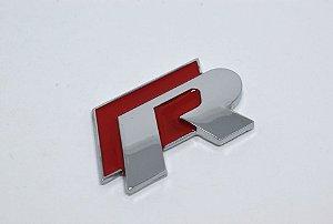 Emblema R (Rline) para Linha Volkswagen - Cor Vermelho