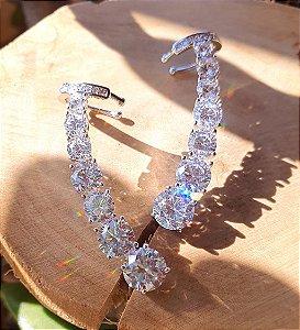 Brinco Earcuff Prata925 Diamonds