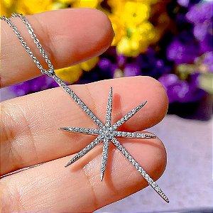 Colar Star Cravejado Silver