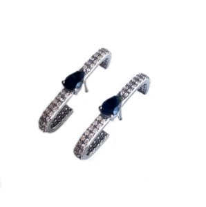 Brinco Earhook STONE Rodio negro