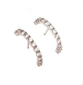 Brinco Earhook Zirconia Silver