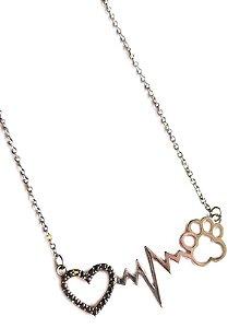Colar i Love Pet Rodio Negro