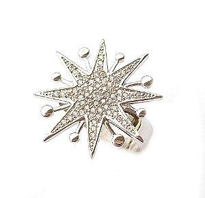 Anel Star Pontas Silver