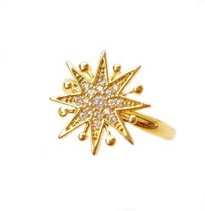Anel Star Pontas Mini Gold