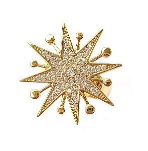 Anel Star Pontas Gold