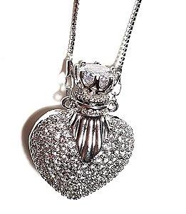 Colar Coração Perfumeiro Grand Silver