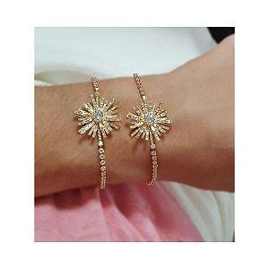 Pulseira Flor Star Gold