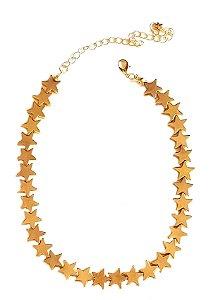 Colar Chocker Star Gold