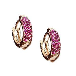 Brinco Argola midi Pink Gold