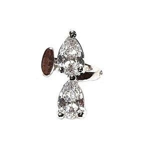 Piercing 2 Gotas Silver