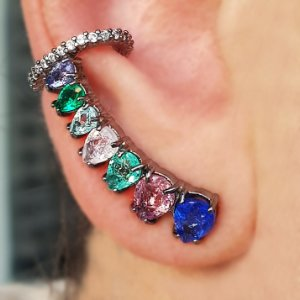 Brinco Earcuff Gotas color  Fusion