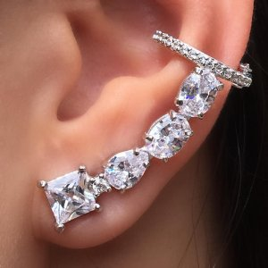 Brinco Earcuff Diamond Form Conti