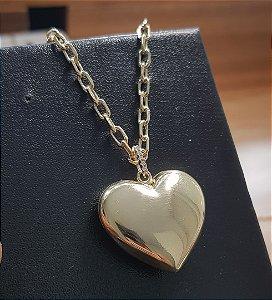 Colar Coração Emoji Gold