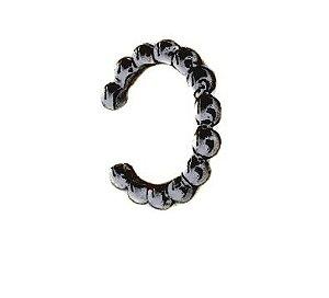 Piercing mini bools Rodio negro