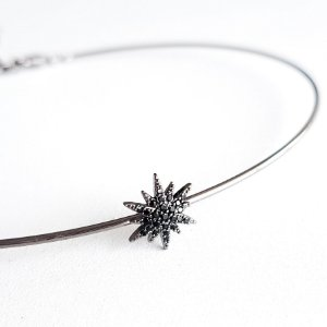 Colar Chocker Uno Star Onix