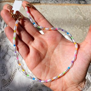 Colar chocker Pérolas x Colors Mikonos