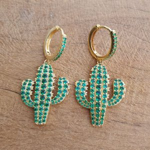 Brinco cactus gold mikonos