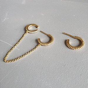 Brinco Piercing corrente gold