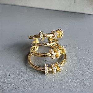 Brinco Piercing Argolas Gold Mistic