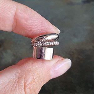 Piercing Silver Cravejado