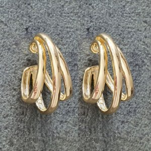 Brinco Piercing Earhook Trio Gold Mistic