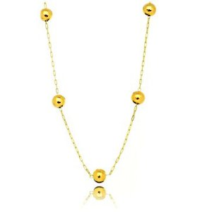 Colar Chocker Balls Gold