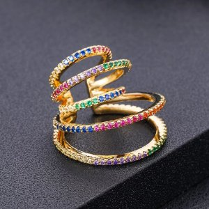 Piercing Rainbow Gold Mistic