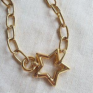 Colar Mosquetão Star Gold Mistic