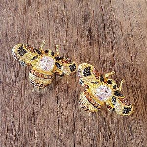 Brinco Bee Colors Total Cravejada Gold Mistic
