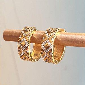 Binco Argola Gold Etnic Chapa Mistic