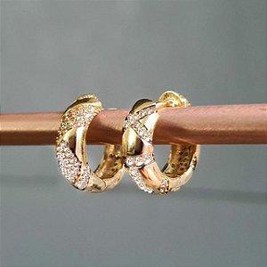 Brinco Argolinha Strong Etnic Gold Mistic