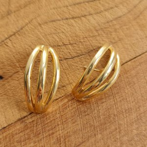 Brinco Earhook Tripla Gold