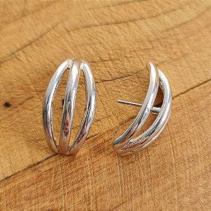 Brinco Earhook Tripla Silver