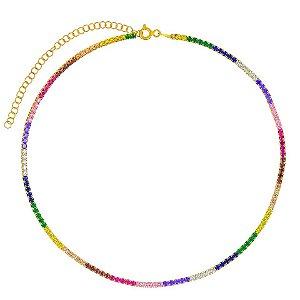 Colar Riviera Gold Rainbow