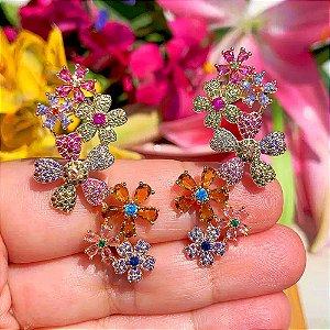 Brinco Earcuff Flowers