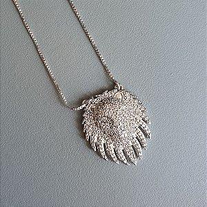 Colar Lion Monac Cravejado Silver